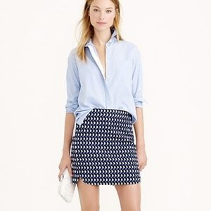 J. Crew Jet Set Black & Blue Geo Mini Skirt